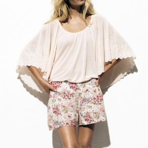 H&M pink Garden Collection top